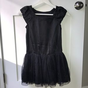Girls Black Gap Satin and Tulle dress